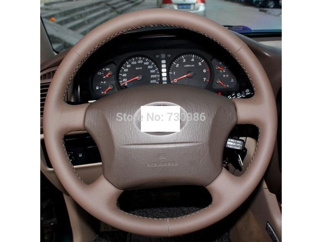 Leather Steering Wheel Cover for 2005 - 2011 Toyota Tacoma / 2003 - 2009  Toyota 4Runner / 2004 - 2010 Toyota Sienna / 2003 - 2007 Toyota Sequoia /