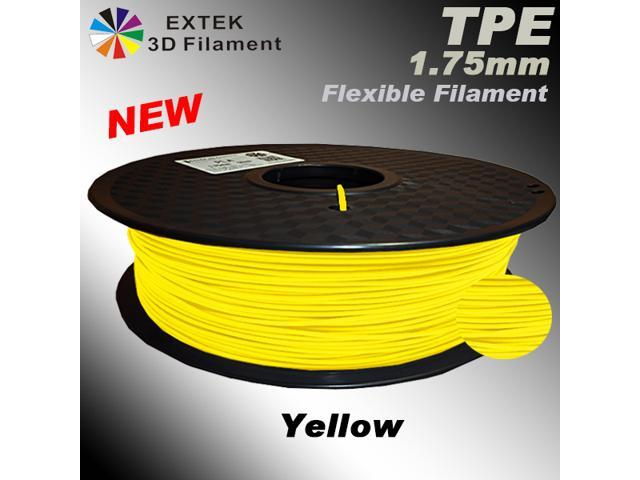 EXTEK EX-FLEX 1 75mm TPE Yellow 3D Printing Filament - , Soft Premium  Material, like rubber, best choice , for 3D printer: MakerBot, RepRap  ,ATOM,