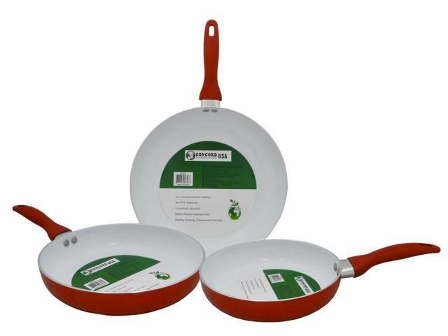 Concord 9 5 Red Color Eco Friendly Healthy Ceramic Nonstick Fry Pan Cookware Newegg Com