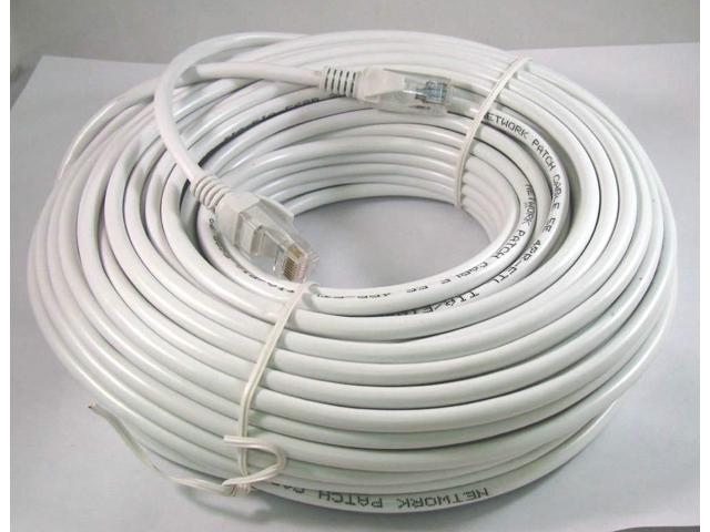15M 50FT RJ45 CAT5 CAT5E Ethernet LAN Network White Patch Cable Cord New
