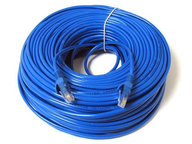 Blue 100 FT Foot CAt5 Cat5e Patch Cable Ethernet LAN Network Router Wire Cord US