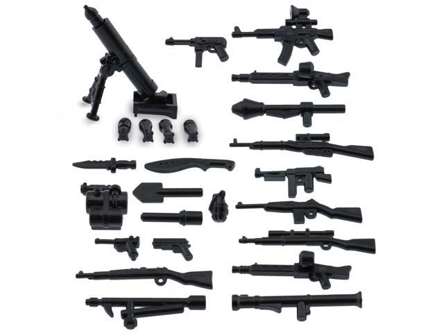 Custom Minifigures Military Army Guns Weapons Compatible w/ Lego Sets  Minifigs - Newegg com