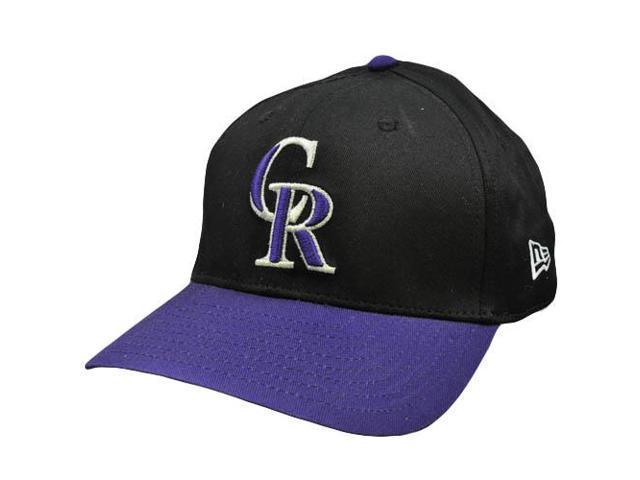 90e1cca11be MLB Colorado Rockies Vintage Old School New Era Black Purple Snapback Hat  Cap