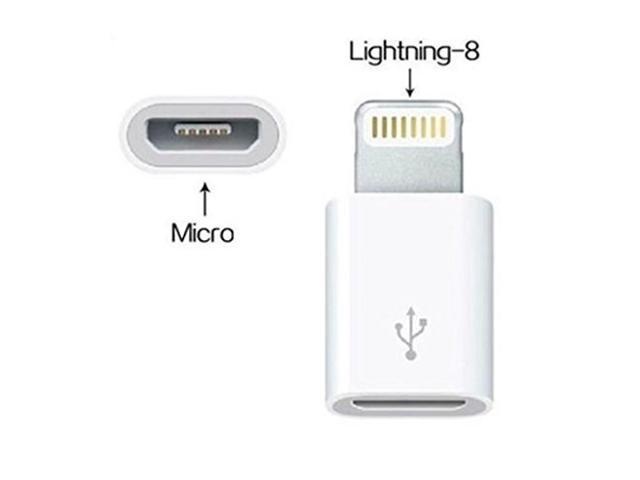 huge selection of fdda1 831a9 FrontTech Micro USB Female to 8 Pin Lightning Male Adapter for  iPhone/iPad/iPod Charge and Sync - Newegg.com