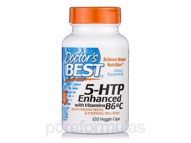 5 HTP Enhanced with Vitamins B6 and C - Doctors Best - 120 - VegCap