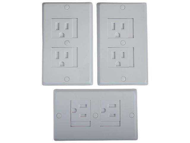 3 Pack White KidCo Universal Outlet Cover