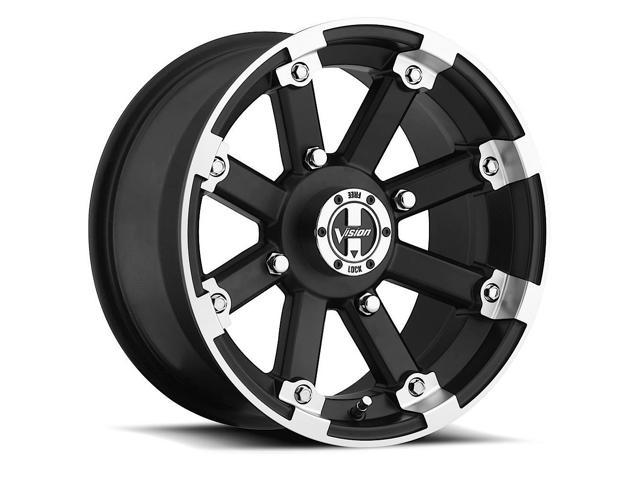 4 Vision 393 Lockout Atvutv 12x7 4x100 Blackmachined Wheels