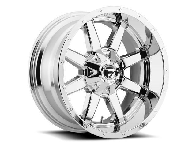 4 Fuel D536 Maverick 20x9 5x5 55x150 1mm Chrome Wheels Rims 20