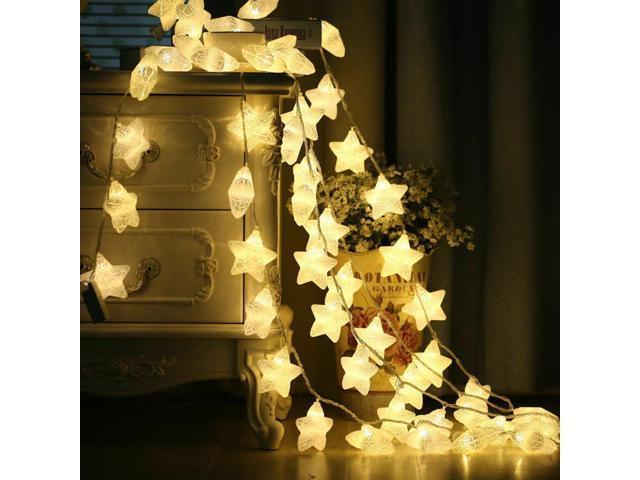 best service e41a3 0d1d3 20 LEDs String Lights, Christmas Tree Wedding Home Decor, Pentagram Shape  Decorative Lights, Hanging Lamp Ornaments, Star Fairy Lights, Warm White ...