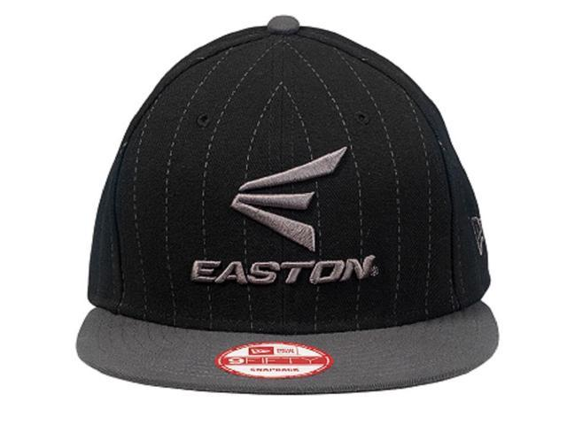 ef4ea203092 Easton M10 Pinstripe 9FIFTY Black   Grey Hat Adult One Size Fits All A167904