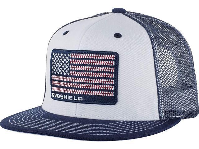 EvoShield WTV1037300410 USA Flag Flatbill Snapback Trucker Hat Mesh  Baseball Cap - Newegg com