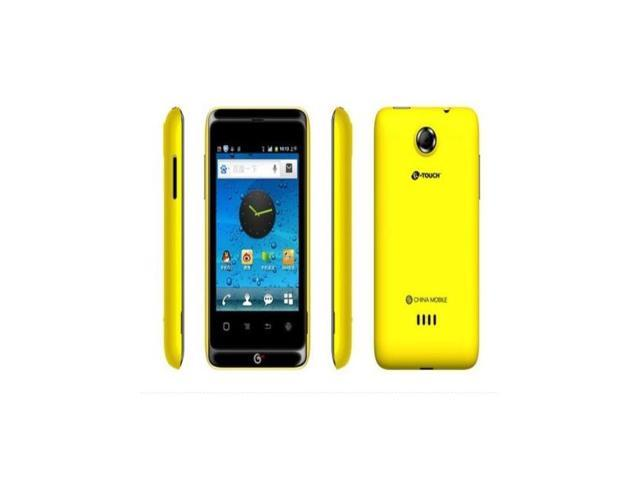 New Original K-Touch T619 ( + ) Black Yellow Smartphone Mobile Cell Phone  3 5 inch GSM SC8810 256M RAM 512M ROM 2PM Android OS 2 3 - Newegg com