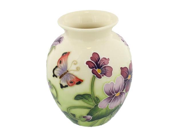 Old Tupton Ware Primrose Butterfly Small Vase Handpainted Newegg