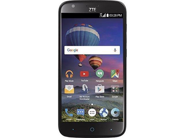 TracFone ZTE Zmax Champ Z917V Prepaid Phone Black - Newegg com