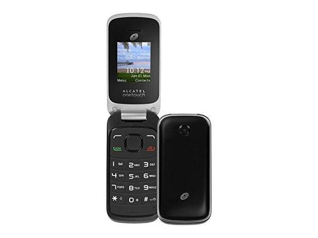Tracfone Alcatel Onetouch A206g GSM Prepaid Flip Phone Black (Green Map) -  Newegg com