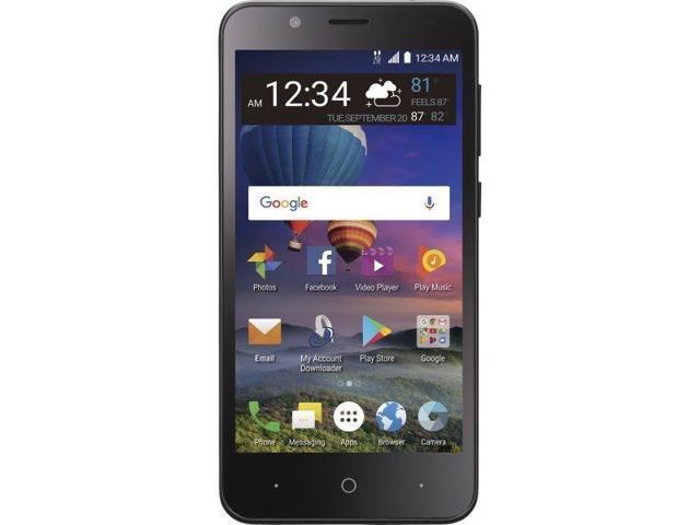 Total Wireless ZTE ZFive C Z558 LTE-V Prepaid Phone 16GB Black - Newegg com