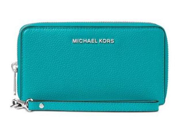 sale retailer c51ac c375e Michael Michael Kors Mercer Large Flat Multi Function Phone Case - Tile  Blue 32F6SM9E3L-439 - Newegg.com
