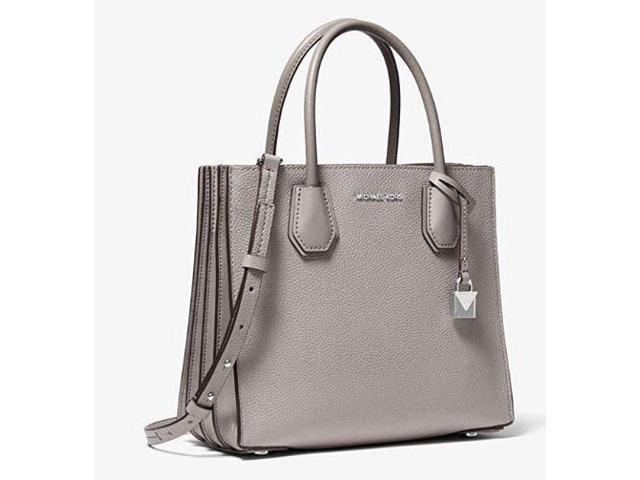 ce1150b341e900 Michael Kors Mercer Medium Messenger, Women's Cross-Body Bag, Pearl Grey  30F8SM9M2T-