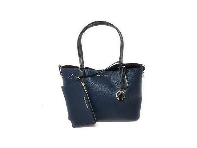 6731cb2f7038 Michael Kors Kimberly Grab Bag Navy Black 35H8GKFT3T-NAVBL ...