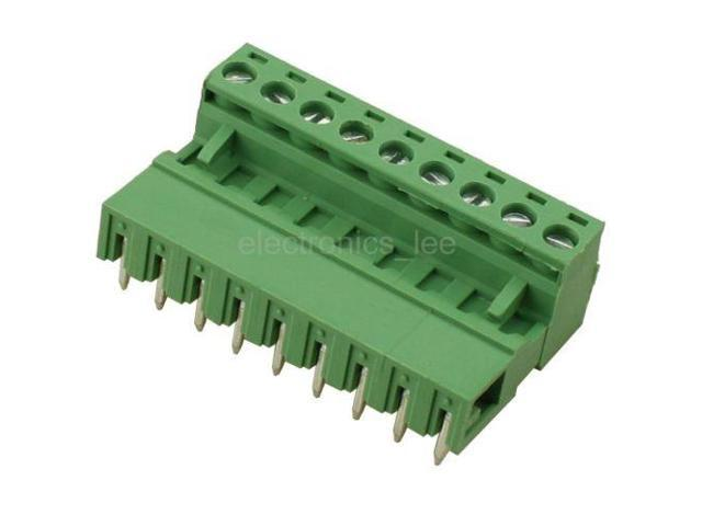 10pcs 2EDG 9Pin Plug-in Screw Terminal Block Connector 5 08mm Pitch Right  Angle - Newegg com