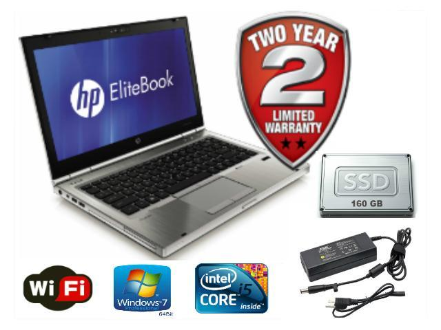 HP EliteBook 8460p - Intel i7-2620M 2 7GHz - 8gb RAM Memory - 160gb SSD -  14