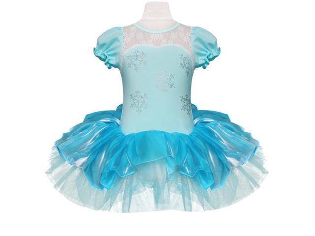 cb76a288d Unique Elegant Holiday Princess Snowflake Girls Dance Dress Ballet ...