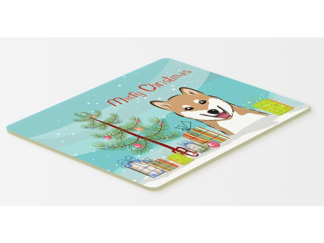 Multicolor Carolines Treasures BB1581CMT Christmas Tree and Bull Terrier Kitchen or Bath Mat 20 by 30