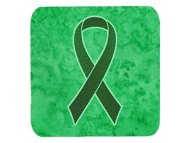Set Of 4 Emerald Green Ribbon For Liver Cancer Awareness Foam