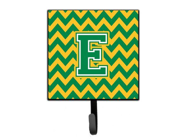 Carolines Treasures Letter E Chevron Green and Gold Leash or Key Holder CJ1059-ESH4 Small Multicolor