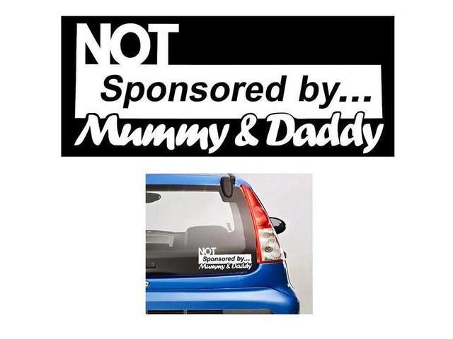 Not sponsored by mom and dad stickers for cars 7 inch