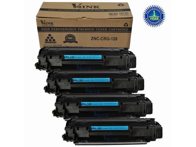 4 Black Crg 128 3500b001aa Toner Cartridge For Canon 128 Toner
