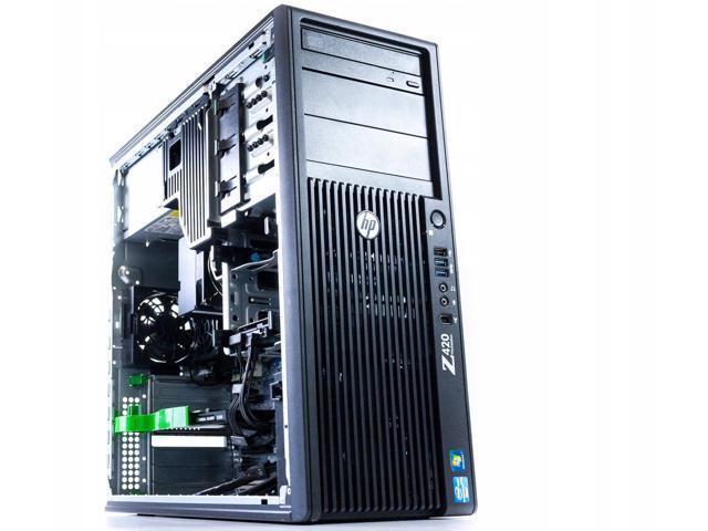 HP Z420 Workstation - 1x Xeon E5-1607 v2 3 00GHz Quad Core CPU, 16GB DDR3  RAM, 1TB HDD, NVIDIA Quadro K600 1GB Video Card, DVDRW, Keyboard & Mouse,  No