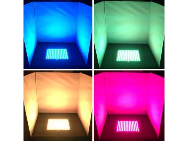 Color-changing RGB LED Light Plate Light Board - 12V 36W DMX Compatible  156LEDs 7inch*7inch for Project Lighting, Party Lighting, Creative Design -