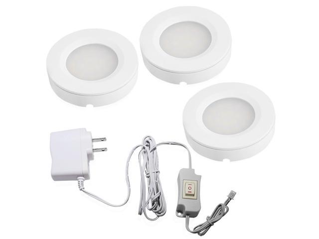 Torchstar Led Under Cabinet Lighting Kit 2 Watt Set Of 3 High Quality Puck Lights Warm White Newegg