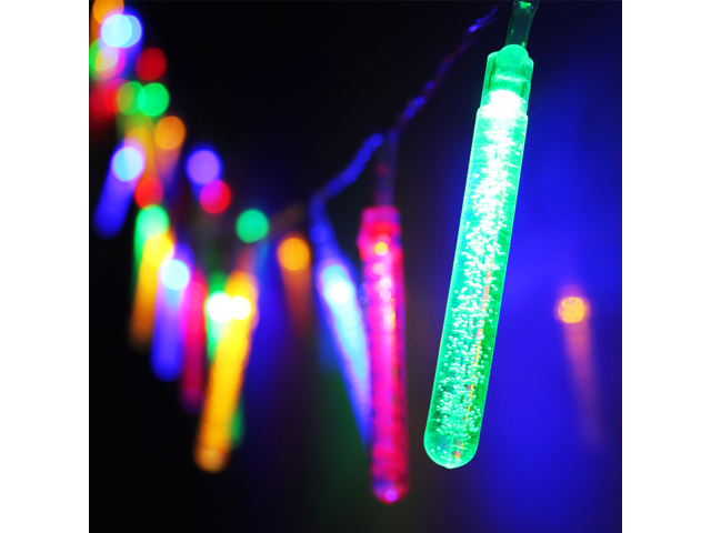 water bubble column battery operated led christmas lights 2 work modes rgby christmas string lights