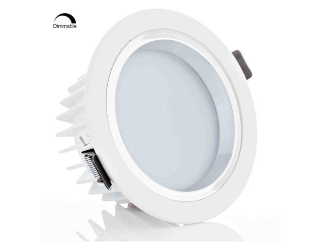 Led 12w Recessed Lighting Fixture Ceiling Light Dimmable Downlight Replace 90w Halogen 4in For Remodel And