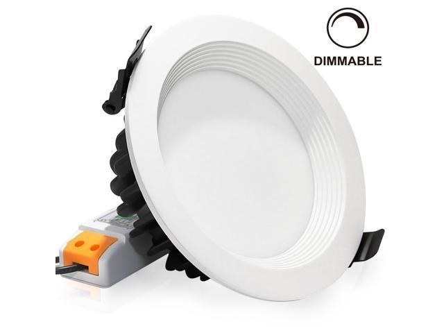 15watt Led Recessed Lighting Fixture Ceiling Light Dimmable Downlight Replace 100w Halogen 5inch Remodel And New Construction Newegg