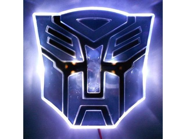 Edge Glowing Led Transformers Autobots Car Emblem White Newegg