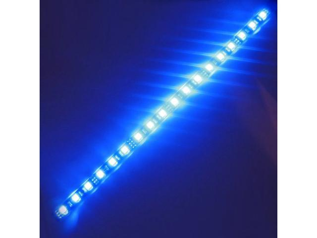 Super Bright 1ft 30cm Blue Waterproof Flexible Led Strip Lights 5050 Smd 18leds