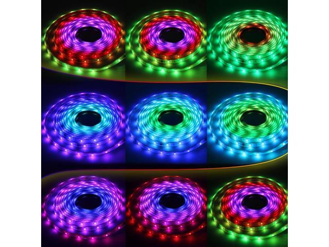 High waterproof ip68 rgb color chasing led light strip kit 164 high waterproof ip68 rgb color chasing led light strip kit 164ft 5m flexible multicolor aloadofball Images