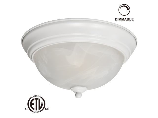 12W 11-inch Dimmable LED Flush Mount Ceiling Light - 50W Equivalent 3000K  Warm White LED Ceiling Light Fixtures - 800lm ETL-listed LED Surface Mount