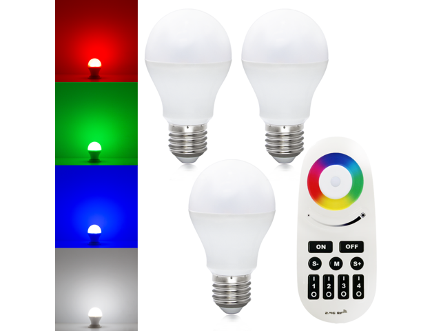 Wifi Compatible Rgb White Color Changing Led Smart Bulb Kit 3pcs Ac86v 264v