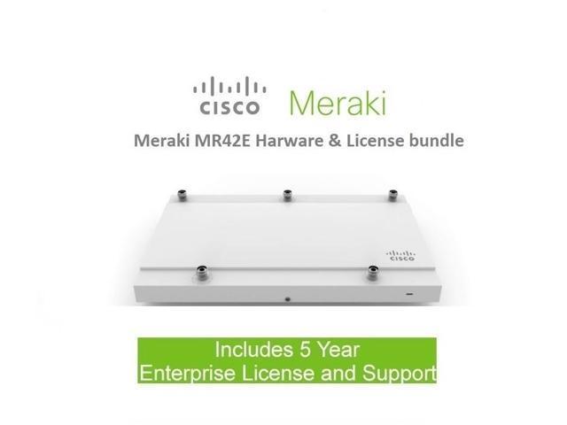 Cisco Meraki MR42E Access Point Includes 5 Year Enterprise Meraki License  (Ext Antenna Sold Separately) - Newegg com
