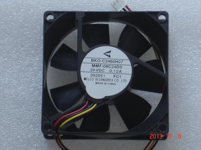 Original Melco 8cm 80 25mm Mmf 08c24ds Fc1 24v 0 12a Bko C2460h07 3 Wires 3 Pins Inverter Fan For Yaskawa Plc Abb Newegg Com