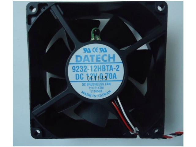 DATECH 9232 9232-12HBTA-2 square cooling fan with 12V 0.7A 3-Wires ...