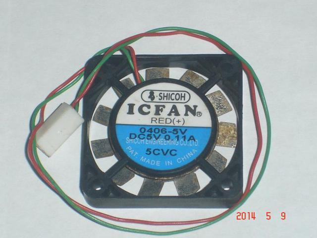 Shicoh ICFAN 4006 0406-5V square cooling fan with 5V 0.11A 2-Wires ...
