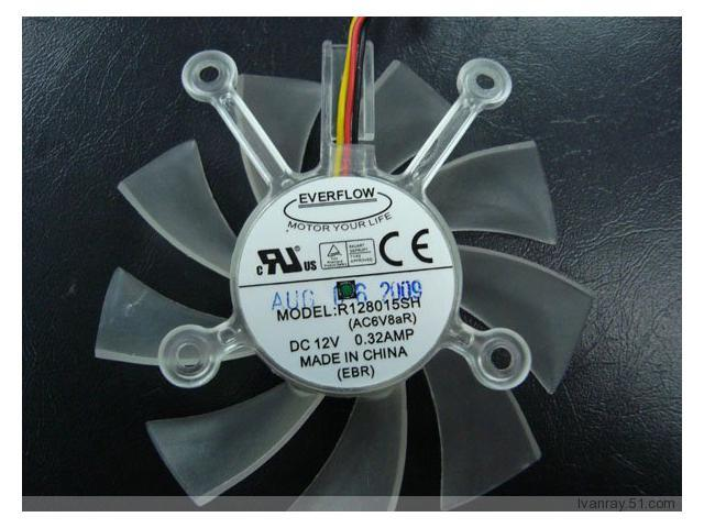 Cooling Fan of EVERFLOW 8015 R128015SH with 12V 0.32A 3-Wires 4-Hole ...