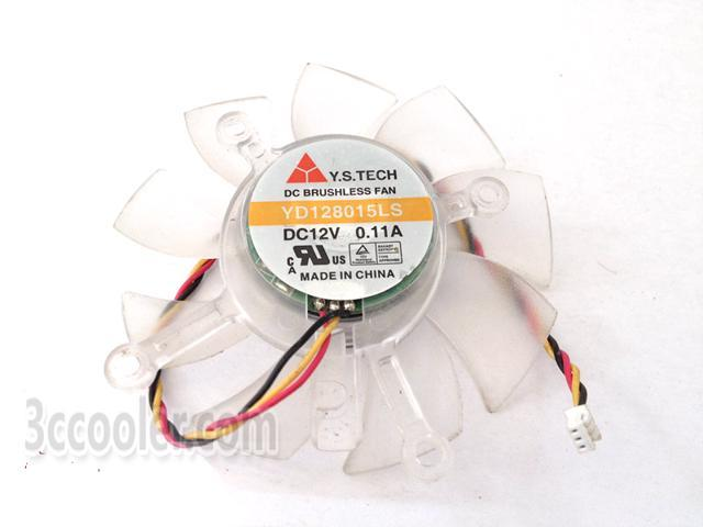 Y S Tech 8015 Yd128015ls 12v 0 11a 3 Wires Cooling Fan For Video