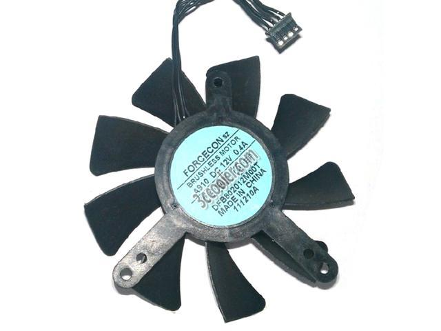 Toshiba DFB802012M00T 12V 0.4A 4 Wires 4 Pins Frameless Cooling fan ...