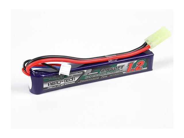 Turnigy nano-tech 1200mAh 2S 25-50C Lipo AIRSOFT Pack - Newegg.com
